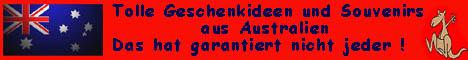 Der Online-Shop für günstige Souvenirs, Geschenke und Deko für Australien-Fans. Hier gibts alles vom Boomerang, Didgi und Schlüsselanhänger bis zu Flaggen, Opalschmuck, T-Shirts, Caps, Roadsigns und vieles mehr. Reinschauen lohnt !